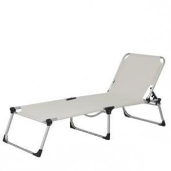 sonnenliege strandliege xxl klappbar alu silber natur. Black Bedroom Furniture Sets. Home Design Ideas
