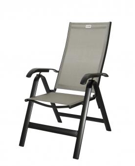 gartensessel gartenstuhl klappbar acamp acatop alu anthrazit taupe bei. Black Bedroom Furniture Sets. Home Design Ideas