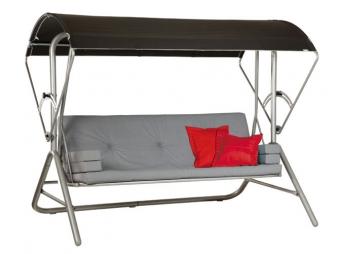 hollywoodschaukel gartenschaukel acamp star stahl platin anthrazit bei. Black Bedroom Furniture Sets. Home Design Ideas