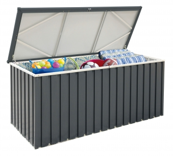 gartenbox kissenbox metall tepro gasdruck 170x72cm anthrazit wei. Black Bedroom Furniture Sets. Home Design Ideas